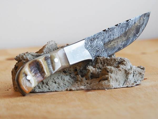 Bilde av Wild Turkey - Håndlaget Damascus Jaktkniv med