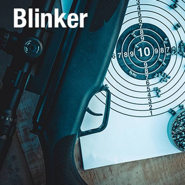 Her finner du blinker og kulefangere du kan bruke til skytingen. Blinker til luftvåpen i flere variasjoner.